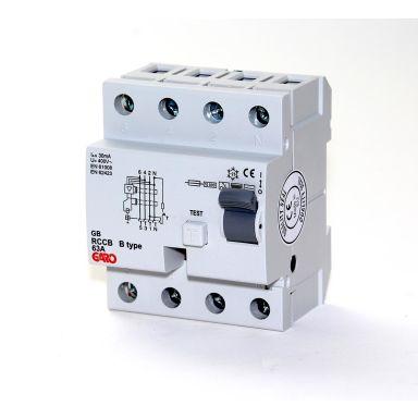 Garo RCCB GB 63A 30mA 4P Jordfelsbrytare typ B, 63A, 30mA