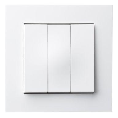 Elko Plus 3x1-Pol Skruv Strømstiller hvit, skruetilkobling