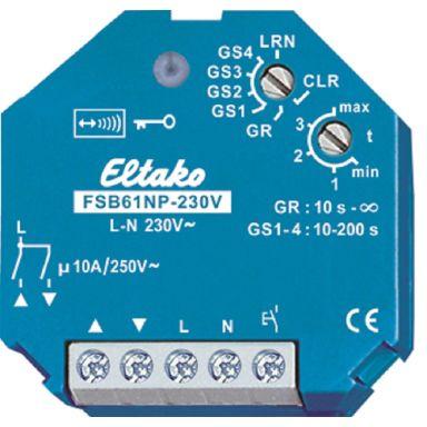 Eltako 30200430 Impulsgruppbrytare 868 MHz, 230V AC, IP30