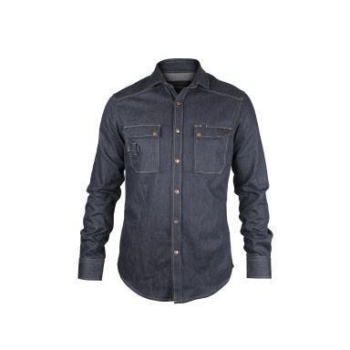 Dunderdon DW30072741000004 Jeansskjorte Cordura-denim, knappekrage