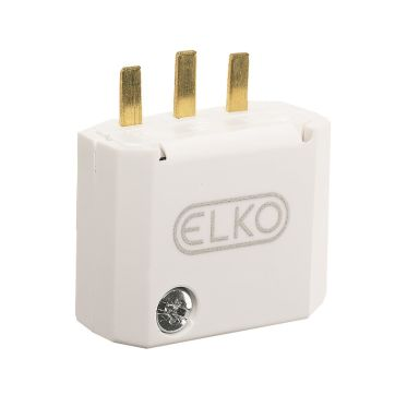Elko EKO04970 Stickpropp DCL, 2-pol, vit