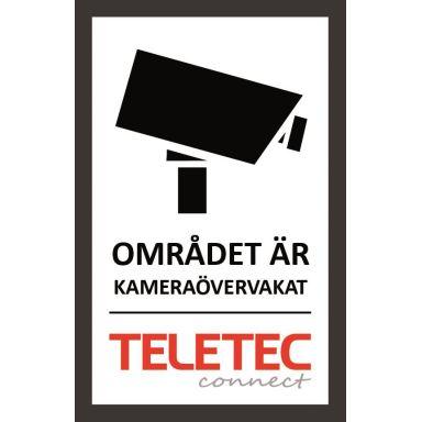 Teletec Connect 111855 Kameraskylt självhäftande, 47 x 73 mm