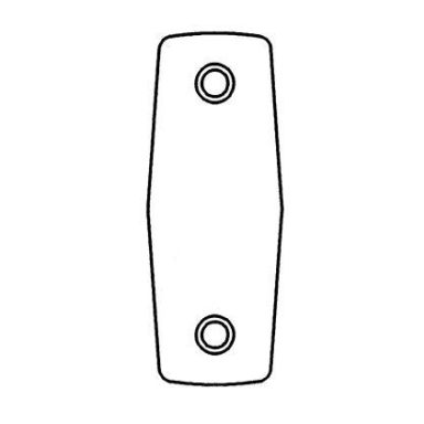 ASSA Fix 823 Täckbricka rostfri