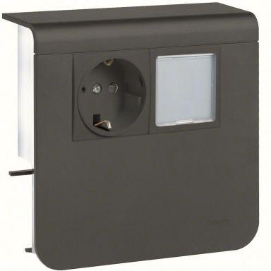 Hager SL200559259011 Uttak 1-veis + LED, 55 mm