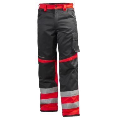 Helly Hansen Workwear Alna Arbetsbyxa varsel, röd/svart