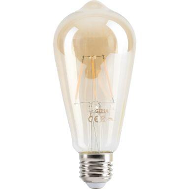 Gelia Retro LED-lampa 470 lm, guld, dimbar