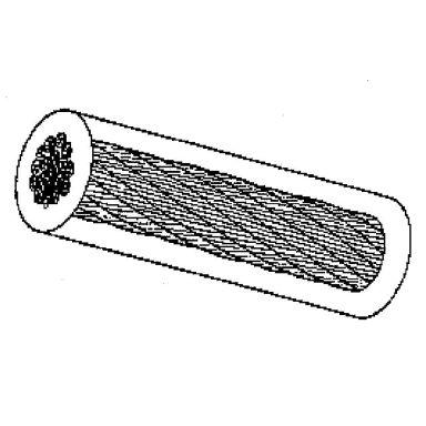 Gunnebo G406234056 Stållina Ø4-5,5 mm x 1 m, FZ, PVC-belagd