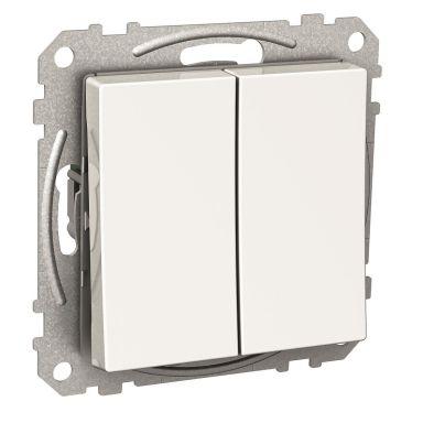 Schneider Electric Exxact WDE002116 Kytkin nelikulmainen keinuvipu, ilman kouria, valkoinen