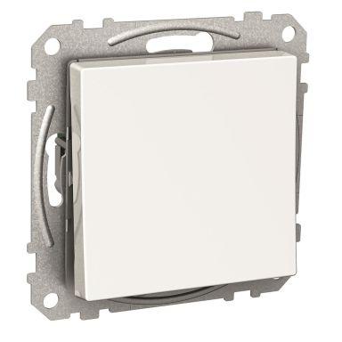 Schneider Electric Exxact WDE002122 Kytkin nelikulmainen keinuvipu, mukana kourat, valkoinen