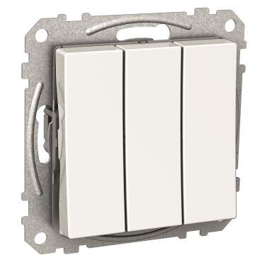 Schneider Electric Exxact Vippetrykknapp hvit