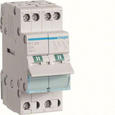 Hager SFT225 Vekslingsomkobler med 0 (off)-posisjon, 25 A
