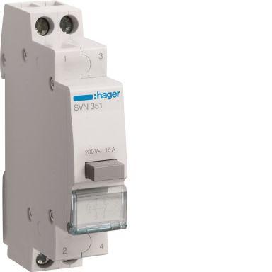 Hager SVN351 Trykknapp 1 åpnende kontakt, 1 sluttende kontakt