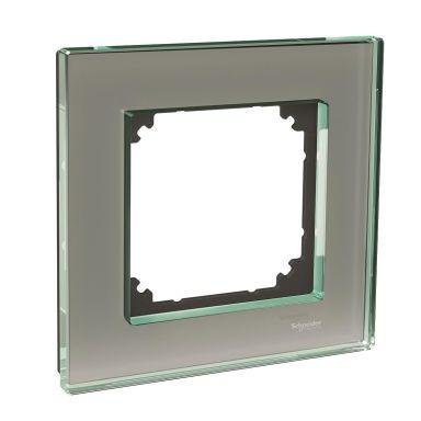 Schneider Electric Exxact Solid Kombinationsram glas, titan