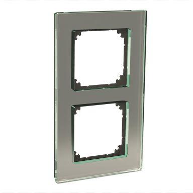 Schneider Electric Exxact Solid Yhdistelmäkehys lasi, titaani