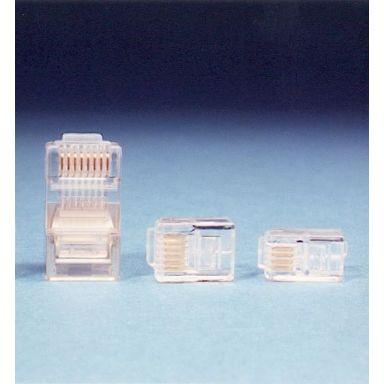 Intronics TD108 Modularkontakt RJ45, UTP, 8/8, för flatkabel, 25-pack