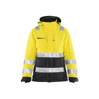 Blåkläder 487219873399XS Varseljacka dam, varselgul/svart, vinter