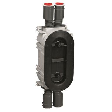 Schneider Electric IMT35006 Apparatdosa brandklassad, dubbel, 13/26 mm