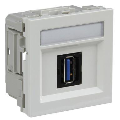 Schneider Electric INS64214 Multimedialiitäntä USB, merkkikilvellä