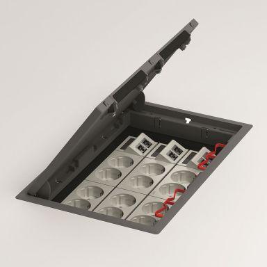 Schneider Electric INS50045 Golvbox djup 6 mm, grå