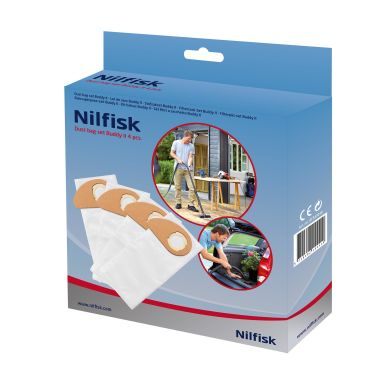 Nilfisk 81943048 Pölypussi Buddy II, 4-pakkaus