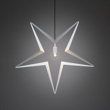 Konstsmide 2578-217 Stjärna E14, vit, hängande, 80 cm