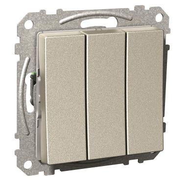 Schneider Electric Exxact Vaihtokytkin 250 V, nelikulmainen vipukytkin