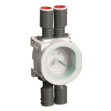 Schneider Electric IMT36140 Apparatdosa vit/grön, kombi 16/20
