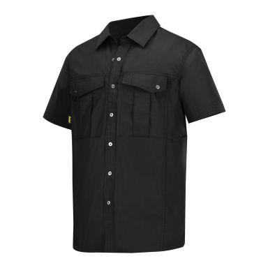 Snickers 8506 Skjorta svart, med kort ärm