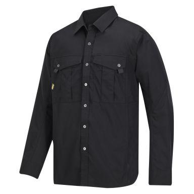 Snickers 8508 Skjorte svart, med lange ermer