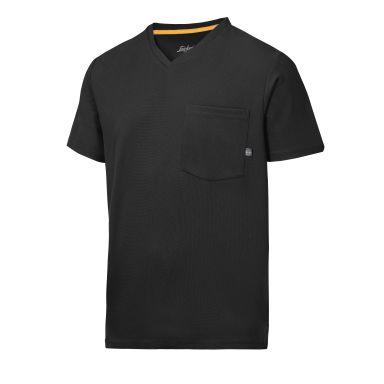 Snickers 2524 AllroundWork T-shirt svart, v-ringad