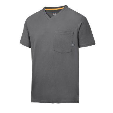 Snickers 2524 AllroundWork T-shirt grå, v-ringad