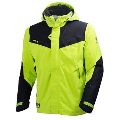 Helly Hansen Workwear Magni Jacka limegrön, justerbar krage
