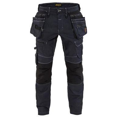 Blåkläder 199011418999C154 Hantverksbyxa stretch, X19, marinblå/svart