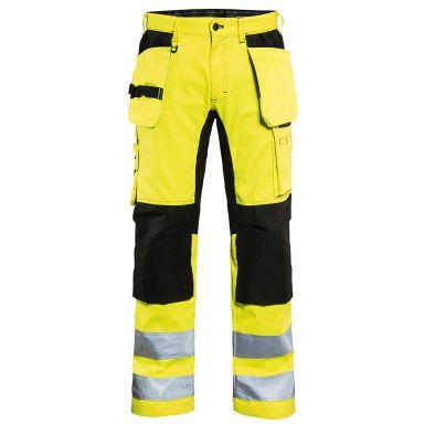 Blåkläder 155218113399D120 Varselbyxa med stretch, varselgul/svart