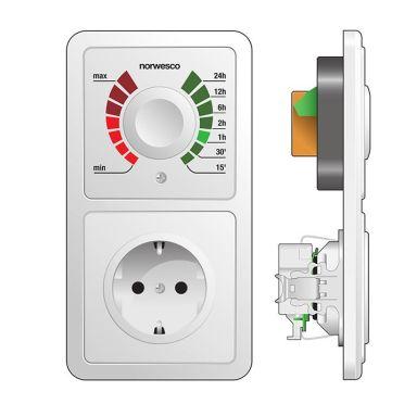 Norwesco 490006 Skyddstimer infälld, 10A, omkopplingsbar, IP20