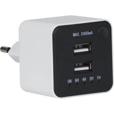 Gelia 4000060221 USB-laddare 2-vägs, nedräkningstimer