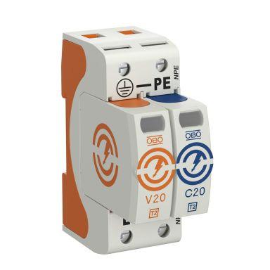 Obo Bettermann 5095251 Overspenningsvern type 2, 230 V, IP20