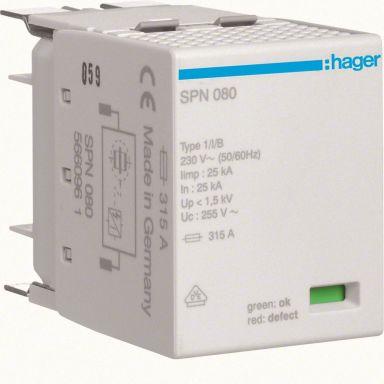 Hager SPN080 Reservepatron grovbeskyttelse