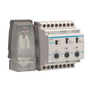 Hager EE203 Ljusrelä 2-20000 lx, 230V, IP54