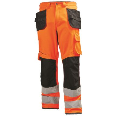 Helly Hansen Workwear Alna Arbetsbyxa varsel, orange/grå