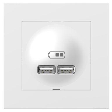 Elko Plus Ladduttag 2 x USB A, 2.1A