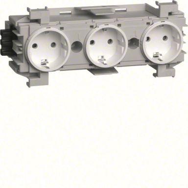 Hager GS30019010 Pistorasia 3-osainen, 180 mm