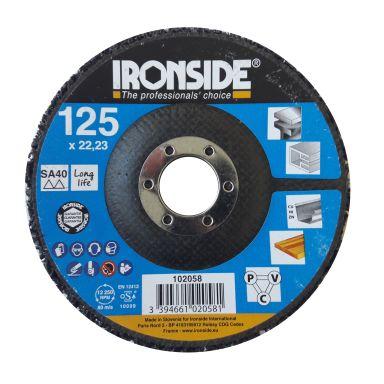 Ironside 102058 Grovrengjøringsrondell 125 x 22 mm