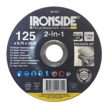 Ironside 201332 Kapskiva 125x0.75x22 mm