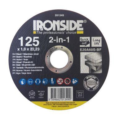 Ironside 201349 Kapskiva 125 mm, F41, E20A, 2in1