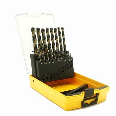 Ironside 201272 Borrkassett 19 st. borrar, 1-10 mm, 7-skärs