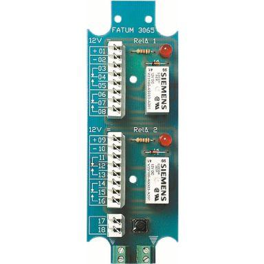 Alarmtech 3065.01 Reläplint 2-relä, 12 DC