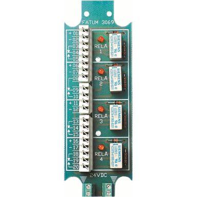 Alarmtech 3069.01 Reläplint 4 reläer, 24 V DC