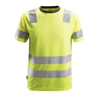 Snickers 2530 AllroundWork T-shirt varsel, gul