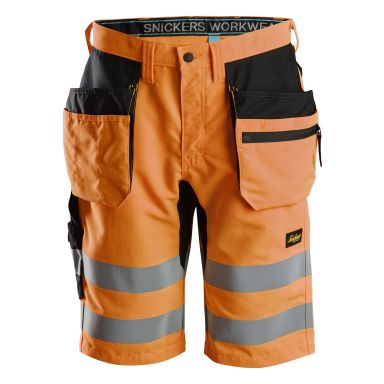 Snickers 6131 LiteWork Arbetsshorts varsel, orange